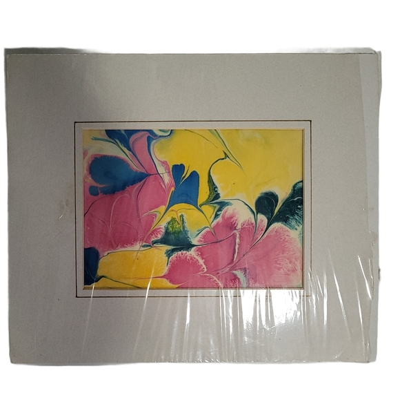 Original Floral Silk Painting by Dorthea Weise
